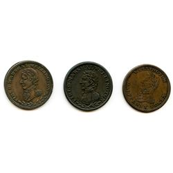 WELLINGTON TOKENS. Lot of 3 tokens.