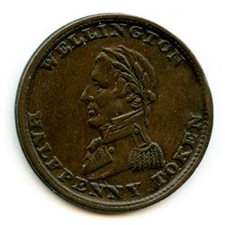 WELLINGTON TOKEN. COURTEAU 33. Breton 979. Withers 1572. CH WE-8A1.