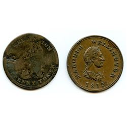 WELLINGTON TOKENS. Lot of 2 tokens.