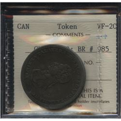 WELLINGTON TOKEN. Cossack Penny Token