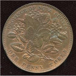 Br. 875, Nova Scotia 1856 Mayflower Penny.