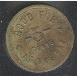 Br. 850, Queen's Hotel, St. Thomas, 5¢, brass