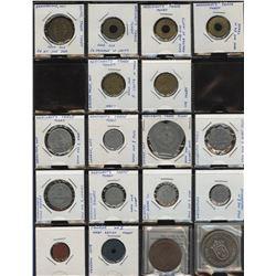 Merchant Trade Token & Medallion - Lot of 18 Pcs.