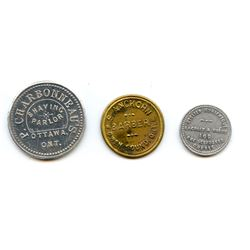 Canadian Shave Tokens.