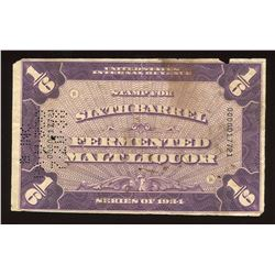 1934 United States Internal Revenue Stamp for Sixth Barrel