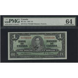 1937 Bank of Canada $1 - Osborne Signature