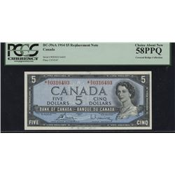 1954 Bank of Canada $5 Replacement