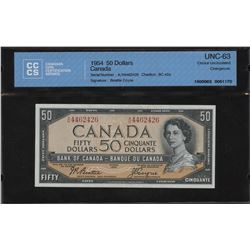 1954 Bank of Canada $50 Changeover Note