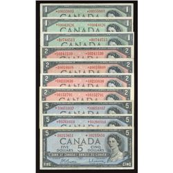 1954 Bank of Canada Collection of 10 Replacement Notes