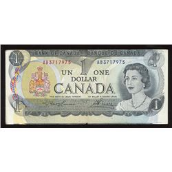 Bank of Canada $1, 1973 Off Centre Error Note
