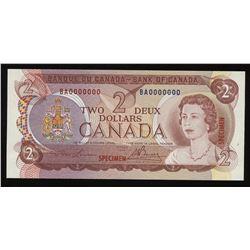 1974 Bank of Canada $1 Specimen