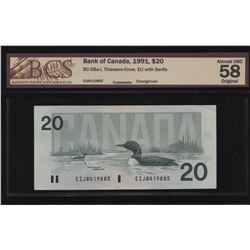 Bank of Canada $20, 1991 - Changeover