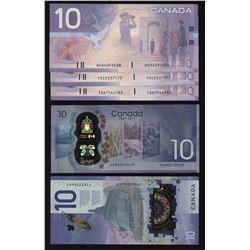Collection of Uncirculated $10 Banknotes