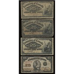 Dominion of Canada Collection of 9 Banknotes