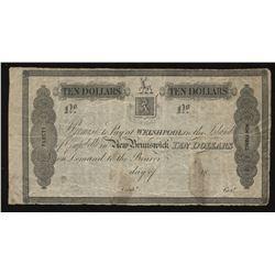 New Brunswick, Campobello Mill & Manufacturing Co. Welshpool, Island of Campobello $10, 1839