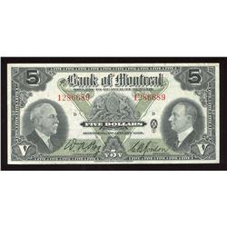 Bank of Montreal $5, 1935