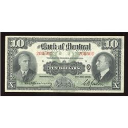 Bank of Montreal $10, 1938