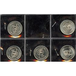 Rimouski Municipal Trade Dollars - Set of 5