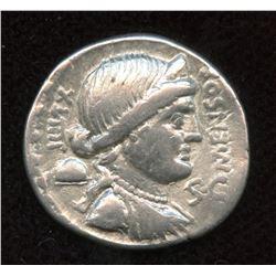 Moneyer: L. Farsuleius Mensor. 75 BC. AR Denarius