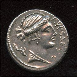 Moneyer: P. Plautius Hypsaeus. 60 BC. AR Denarius