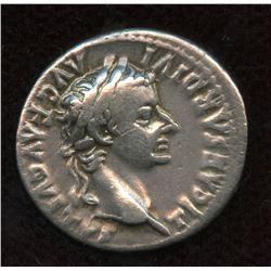 Tiberius. 14-37 AD. AR Denarius