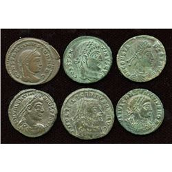 4th Century AE Group. Lot of 6