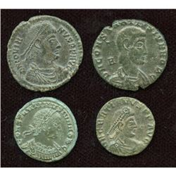 4th Century AE Group. Siscia Mint. Lot of 4