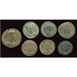 Later 4th Century AE Group. Lot of 7