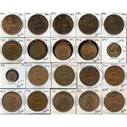 Quality Mint State Copper - Lot of 20 British Coins