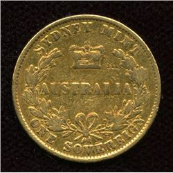 Australia Gold Sovereign, 1861