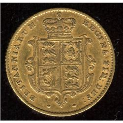 Great Britain Gold Half Sovereign, 1853