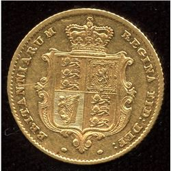 Great Britain Gold Half Sovereign, 1857