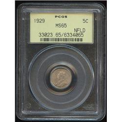 1929 Newfoundland Five Cents