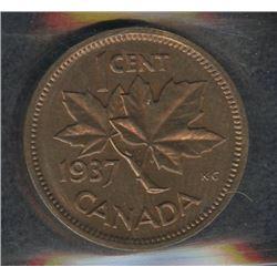 1937 One Cent - Specimen
