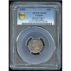 1893 Ten Cents - Rare Round Top