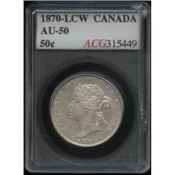 1870 Fifty Cents - L.C.W.