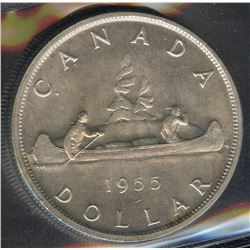 1955 Silver Dollar - Arnprior with Die Breaks