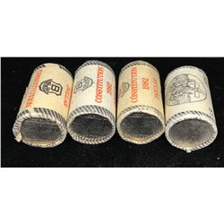 Constitution & Cartier - Lot of 4 Nickel Dollar Rolls