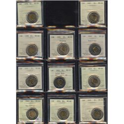 Toonie Fest - Lot of 43 Graded Coins