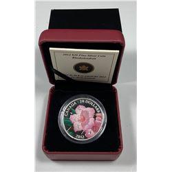 2012 $20 Canada SWAROVSKI CRYSTALS - RHODODENDRON (#3) (NO TAX)