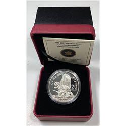 2013 $20 Canada DINOSAURS OF CANADA - BATHYGNATHUS BOREALIS (NO TAX)