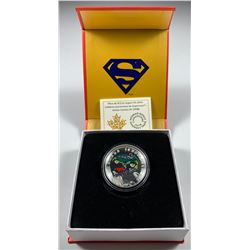 2014 $10 Canada ICONIC SUPERMAN - ACTION COMICS #1 (1938) FINE SILVER (NO TAX)
