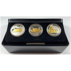 2017 $20 Canada LOCOMOTIVES ACROSS CANADA - 3 COIN PURE SILVER SET WITH SUBSCRIPTION BOX (NO TAX)