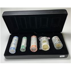 2019 Canada 5 Roll Collection is Special RCM Roll Box, $2 D-Day Roll Signed By Artist.