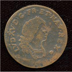 XII Deniers 1717Q (perpigran) copper electrotype.