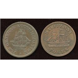 Lot of two Pre-Confederation Canadian Tokens.