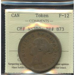 Br. 873.  1843/0 thistle penny overdate.