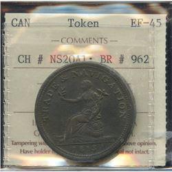 Br. 962. Co. 8NL.  Trade & Navigation Penny, 1813.