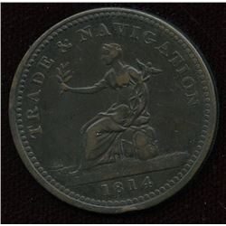 Br. 962. Co. 12NL.  Trade & Navigation Penny, 1814.