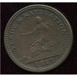 Br. 964.  Co. 5NL.  Trade & Navigation Farthing, 1813.